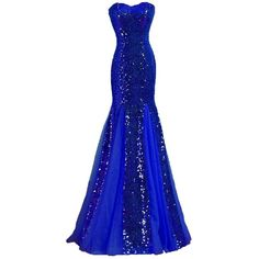 Women's Strapless Mermaid Sequin Evening Gowns Off Shoulder Formal... ($25) ❤ liked on Polyvore featuring dresses, formal occasion dresses, blue strapless dress, blue sequin dress, off the shoulder sequin dress and sequin dress