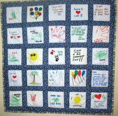 memory baby quilts | Memory Quilts & Pillows