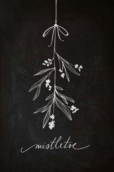 Get kissed under the mistletoe