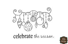 Unity Stamp - Itty Bitty Collection - Unmounted Rubber Stamp - Ornamental Season at Scrapbook.com $5.99