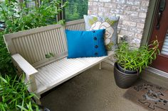 Front porch bench. Could make out of old doors as well.
