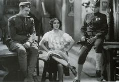 """""""What Price Glory"""" (1926) starring Victor McLaglen, Dolores Del Rio, and Edmund Lowe."""