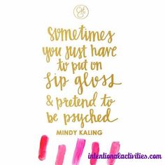 Mindy Kaling words of wisdom The Words, Cool Words, Great Quotes, Quotes To Live By, Inspirational Quotes, Motivational Monday, Pretty Words, Beautiful Words, Beautiful Quotations