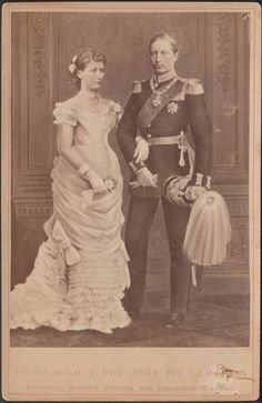 carolathhabsburg: Kronprinz Wilhelm of Prussia and his fiance. Augusta Victoria…
