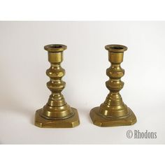 Superb pair of early miniature brass candlesticks, candleholders. Unpolished with aged brass patina. Candlesticks, Candelabra, Brass Patina, Vintage Ceramic, Print Pictures, Retro Vintage, Candle Holders, Art Deco, Miniatures