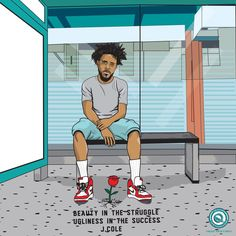 Dope Cartoon Art, Dope Cartoons, African American Artist, American Artists, J Cole Art, J Cole Quotes, Chris Brown Art, Rapper Art, Hip Hop Art