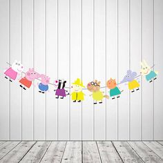 Peppa pig Character string printable peppa pig party