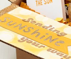 Send a box of sunshine to someone who needs a smile! #ctmh #closetomyheart #boxofsunshine #paperaddict #handmade #giftideas