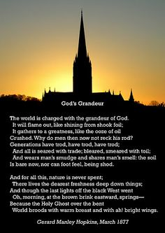 "'""God's Grandeur"" by Gerard Manley Hopkins, especially good as a card.' by Philip Mitchell"