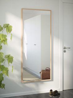 "STAVE Mirror - birch effect, 27 "" - IKEA - good for behind the door Dream House Interior, Home Interior Design, Ikea Furniture, Custom Furniture, Little Dream Home, Ikea Mirror, Ikea Home, Ikea Us, House Entrance"