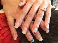 Acrylic+nails+with+multi+coloured+Swarovski+crystal+on+tips