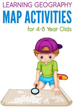 5 engaging, introductory map activities for four to eight year olds, great for kindergarten through to second grade geography at home or school. Geography For Kids, Geography Activities, Geography Map, Maps For Kids, Geography Lessons, Teaching Geography, Social Studies Activities, Science Activities, Teaching Kids