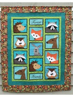 "Includes clear, concise directions to create a charming woodland quilt or table runner. Each block measures 8"" x 8"". Finished size of quilt is 37"" x 45"". Finished size of runner is 16"" x 40"". Quilt is paper pieced."