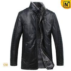 Mens Sheepskin Jacket Black CW877328 $1458.89 - www.cwmalls.com