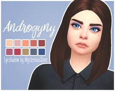 "mysteriousdane: "" Androgyny Eyeshadow Palette So I was unsure which palette to do next but @purrsephonesims was sweet enough to request this one by Jeffree Star! I don't know how well I replicated the..."