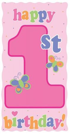Giant pink happy 1st birthday door poster http://www.wfdenny.co.uk/p/giant-pink-happy-1st-birthday-door-poster/6317/