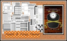 The Complete Health and Fitness Planner Workbook: Meal planner, workout planner, weigh loss tracker, goals, motivation and MORE. Weight Loss Detox, Easy Weight Loss, Healthy Weight Loss, Fitness Planner, Meal Planner, Workout Planner, Reduce Weight, How To Lose Weight Fast, Printable Workouts