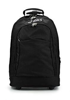 Практичный дорожный рюкзак на колесиках от Asics. Модель выполнена из высококачественного износоустойчивого полиэстера черного цвета и дополнена тремя внешними карманами на молнии и логотипом бренда наверху. Детали: внутри карман на молнии, молния для увеличения объема, удобные регулируемые лямки легко прячутся в спинку рюкзака, выдвижная ручка, два колеса. http://j.mp/