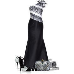 Formal Black and White ..., created by mrsbro on Polyvore