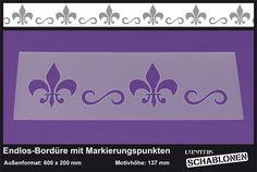 Schablone XL Bordüre Schwertlilie Bourbonen - LB12 von Lunatik-Style via dawanda.com