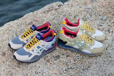 $450 for both pairs Bodega x Asics Gel Lyte V Get Wet Size 12.5 Legend Blue 11 #AllState #RunningCrossTraining