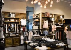 women clothing retail store design,create a special warm atmosphere,can grab customers' attentions immediately. Retail Interior Design, Boutique Interior Design, Retail Store Design, Clothing Store Displays, Clothing Store Design, Women's Clothing, Store Layout, Store Fixtures, Shop Interiors