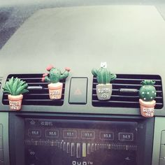 Cactus Car Air Vent Decoration - set of 4. - Carsoda - 1