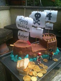 Epic pirate ship cake