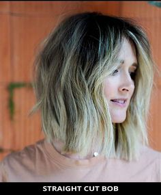 Try wearing this popular straight cut bob that might change your life! Need more hair inspo like this? Tap visit to see all of choppy bob hairstyles. Photo Credit: @sagebrush_salon on Instagram Choppy Bob Hairstyles, Latest Hairstyles, Easy Hairstyles, Straight Cut Bob, Choppy Cut, Line Bob Haircut, A Line Bobs, Short Cuts, Hair Inspo