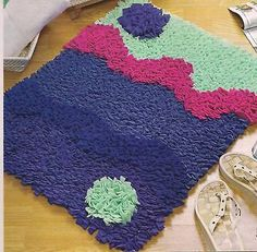 Perfect Latch Hook Rug Patterns, Make Rugs W/ Fleece! Rugmaking
