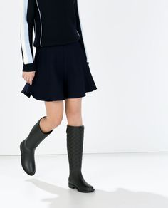 ZARA - SHOES & BAGS - COMBINED RUBBER BOOT
