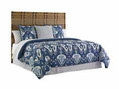 Tommy Bahama Twin Palms Coco Bay Panel Headboard - Queen by Tommy Bahama Home Bamboo Headboard, Wingback Headboard, Panel Headboard, Panel Bed, Headboards, Bedroom Furniture, Home Furniture, Furniture Ideas, Lexington Home