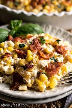 Creamy Corn and Bacon Casserole with Greek Yogurt