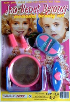"""Most peculiar indeed....  """"Really? A memorial beauty set of a murdered child? I'm speechless!"""""""
