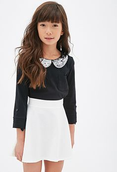 Geo-Patterned Skater Skirt (Kids) | FOREVER21 girls - 2000099141 $7.80