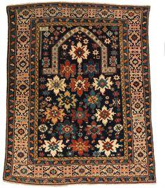 Kuba prayer rug, caucasus, last quarter 19th century. Christopher Emmet collection