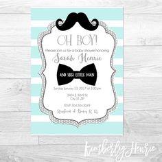 Little Man Custom Baby Shower Invitation Bridal Shower