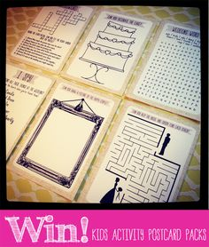 blog 2 Win kids wedding activity postcard colouring wordsearch puzzle packs by In the Treehouse