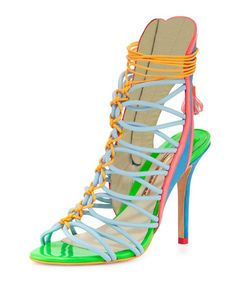 Sophia Webster - Lacey Strappy High-Heel Sandals