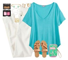 """""""Hello"""" by lauren-hailey ❤ liked on Polyvore featuring J.Crew, Calypso St. Barth, KYMA, Lilly Pulitzer, Kate Spade, Jennifer Zeuner, Kendra Scott and NARS Cosmetics"""