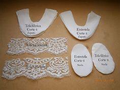 Como hacer unos zapatos en tela para niños ~ Entretelas Baby Knitting, Crochet Baby, Baby Shoes Pattern, Shoe Pattern, Baby Patterns, Baby Tutu, Baby Bows, Baby Dress, Felt Shoes