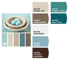 Paint Colors. Really teal - might be the color I should have painted my bedroom.