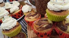 Muffins marmolados de crema de avellanas
