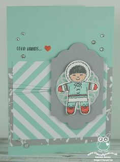 Love the Eskimo from the Cooker Cutter Christmas stamp set. This is by Joanne James AKA The Crafty Owl