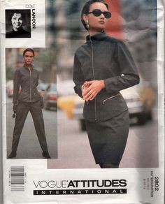 Vogue Attitudes International Pattern 2802 Misses by sandritocat, $20.00