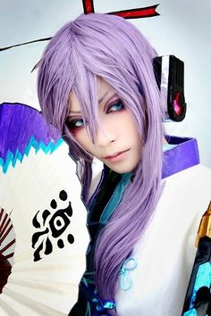 Kamui Gakupo (Vocaloid) Cosplay.. this is how I will do my eye makeup someday when I have gakupo cosplay