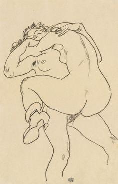 Egon Schiele (Austrian, 1890-1918) - Two Friends, 1917