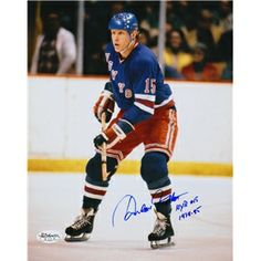 New York Rangers, Anders Hedberg Autographed 8x10 Photograph signed in blue sharpie.
