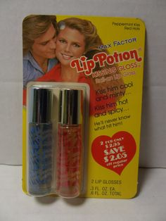 Max Factor Lip Potion Roll-On Kissing Gloss. We never left home without it