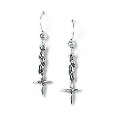 Christian earrings are subtle symbols of God's love. SonGear has a fine selection from all the major brands. Cross Earrings, Dangle Earrings, Christian Jewelry, Christian Shirts, Sterling Silver Cross, Vines, Dangles, Drop, Christian T Shirts